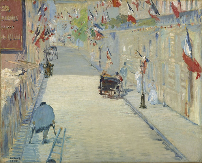 Edouard Manet, The Rue Mosnier with Flags, 1878