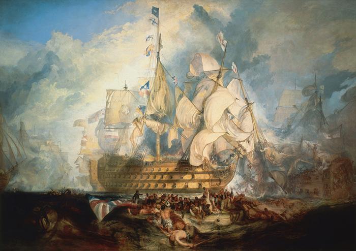 J.M.W. Turner, The Battle of Trafalgar, 21 October 1805, 1822