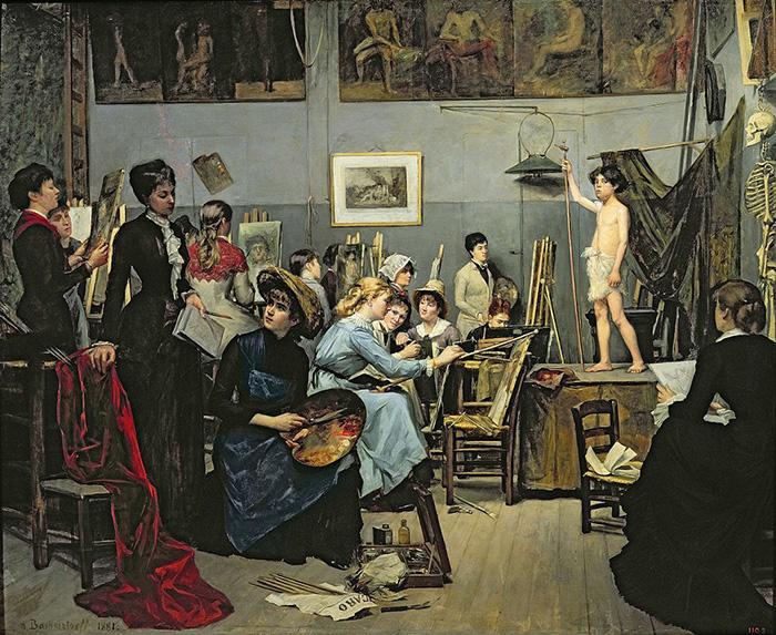 Marie Bashkirtseff, In the Studio, 1881