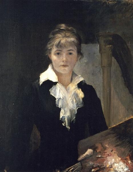 Marie Bashkirtseff, Self-portrait With a Palette, 1880