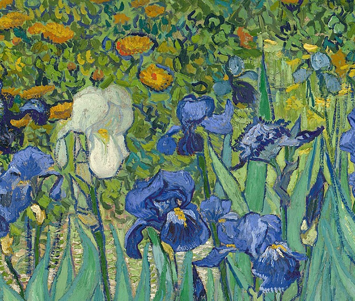 Vincent van Gogh, Irises, 1889 (Detail 2)