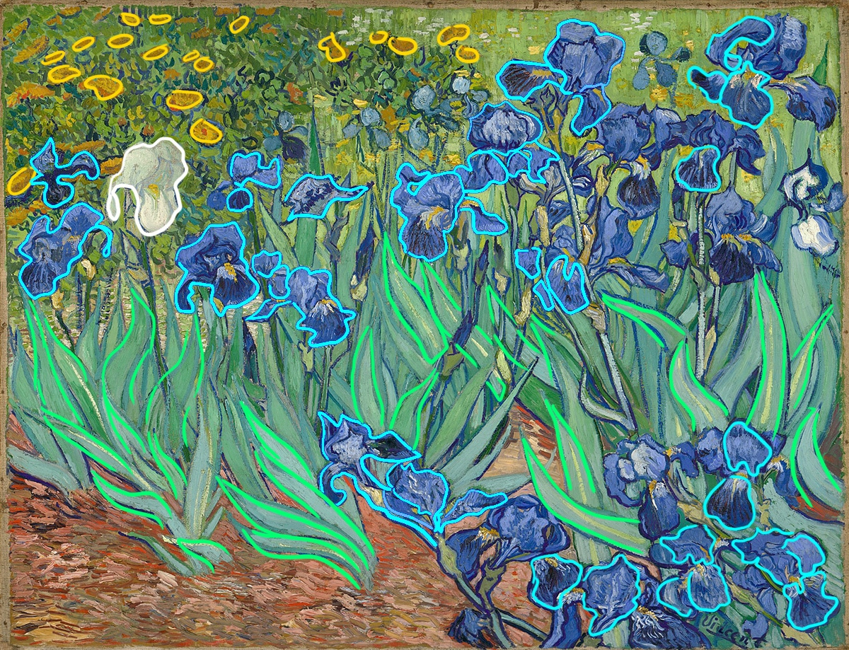 Vincent van Gogh, Irises, 1889 (Shape)