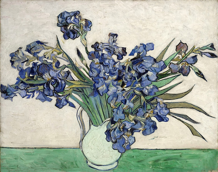 Vincent van Gogh, Irises in a Vase, 1890