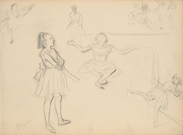 Edgar Degas, Ballet Dancers Rehearsing, c.1877