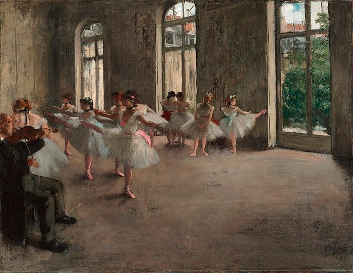 Edgar Degas, Ballet Rehearsal, 1873