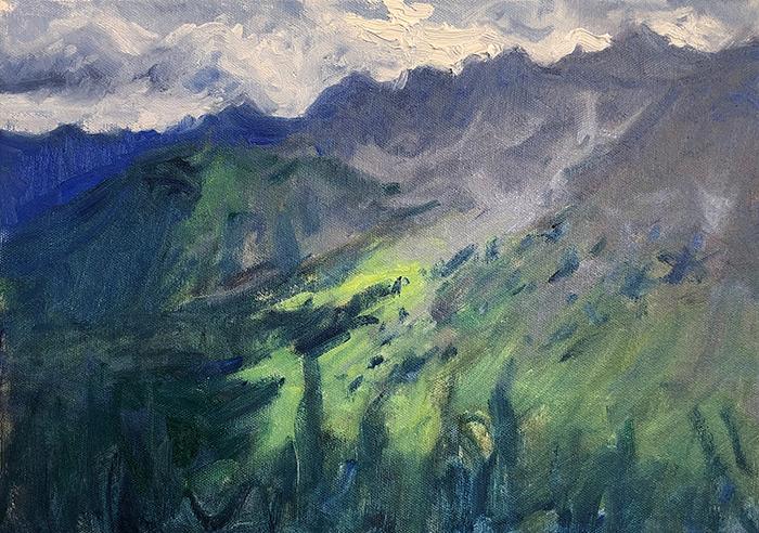 Dan Scott, American Mountains, Study