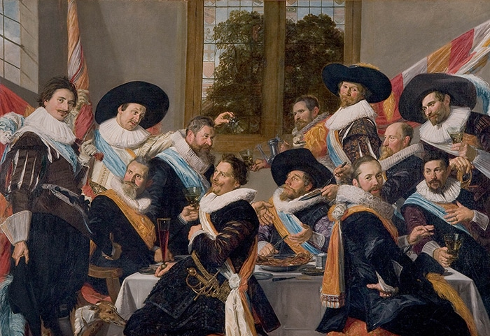 Frans Hals, Banquet of Officers of the Civic Guard of St. George at Haarlem, 1616