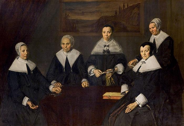 Frans Hals, Regentesses of the Old Men's Almshouse, 1664