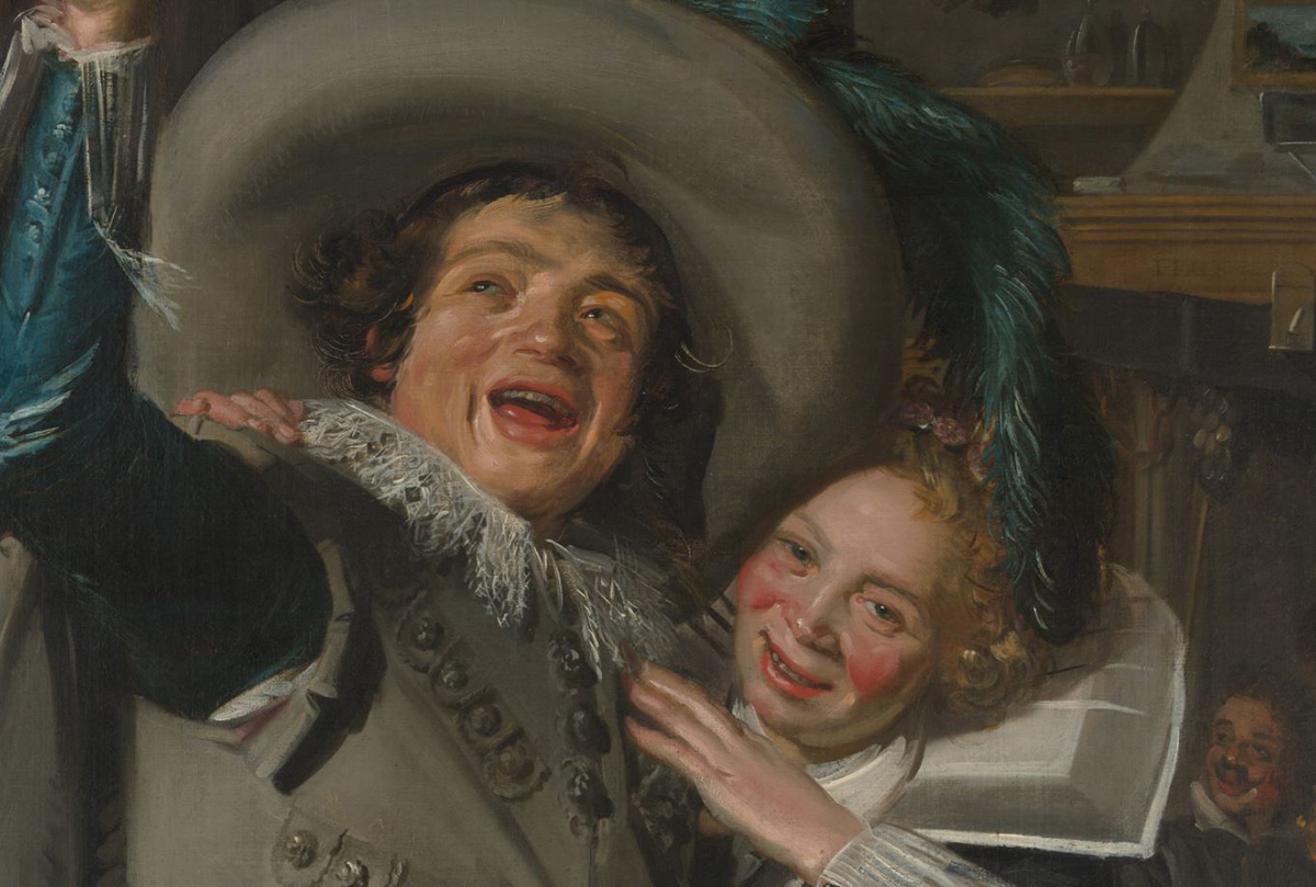 Frans Hals, Young Man and Woman in an Inn, 1623 (Detail)