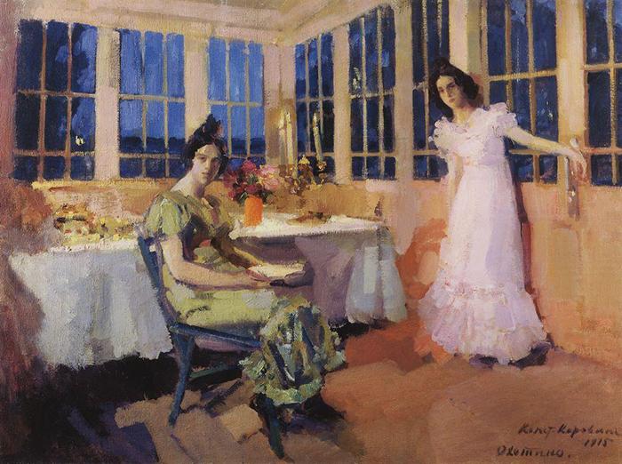 Konstantin Korovin, The Terrace, 1915