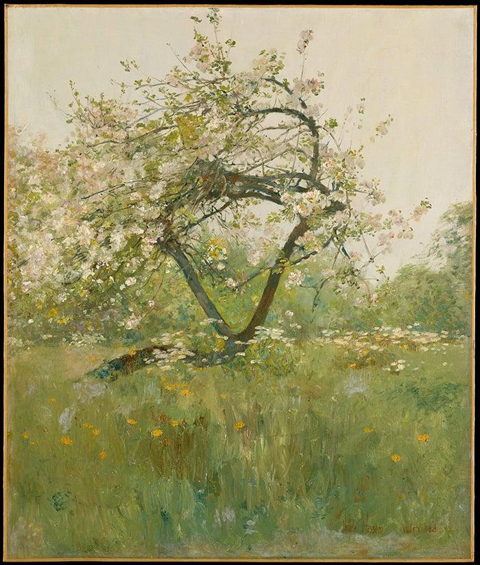 Childe Hassam, Peach Blossoms—Villiers-le-Bel