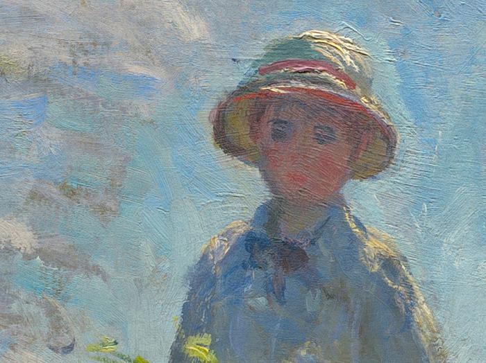 Claude Monet, Woman With a Parasol, 1875 (Detail 2)