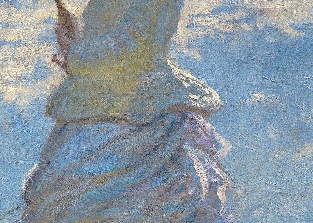 Claude Monet, Woman With a Parasol, 1875 (Detail 4)