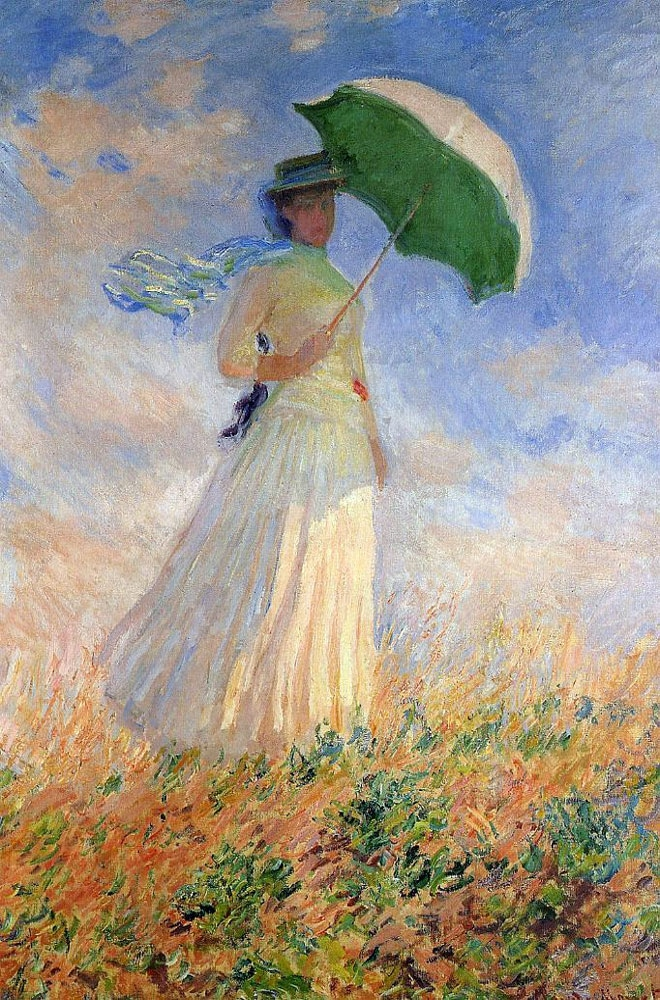 Claude Monet, Woman With a Parasol, Facing Right, 1886