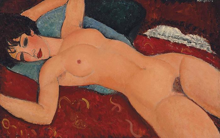 Amedeo Modigliani, Nu Couché, 1916-19