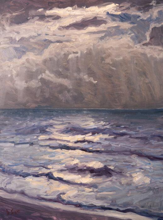 Dan Scott, Sunrise, Bribie Island, 2021