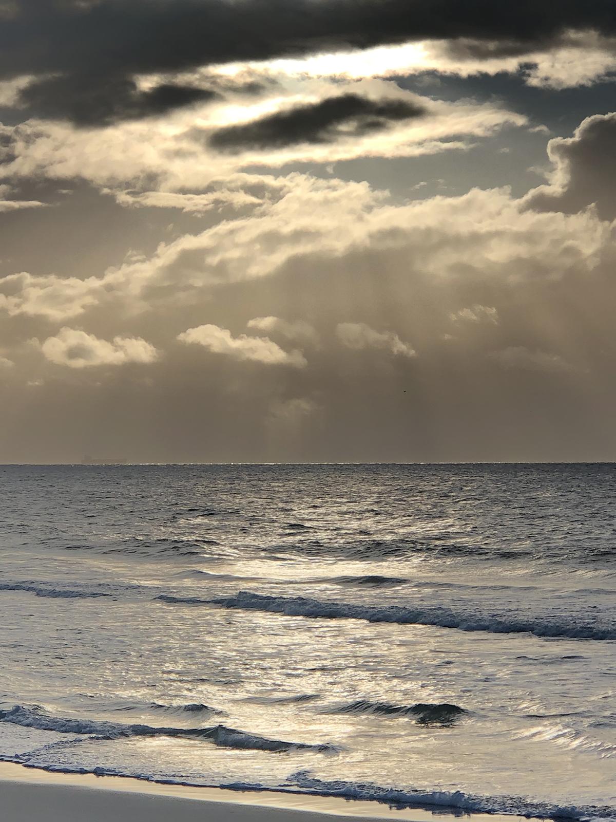 Dan Scott, Sunrise, Bribie Island, 2021, Reference Photo