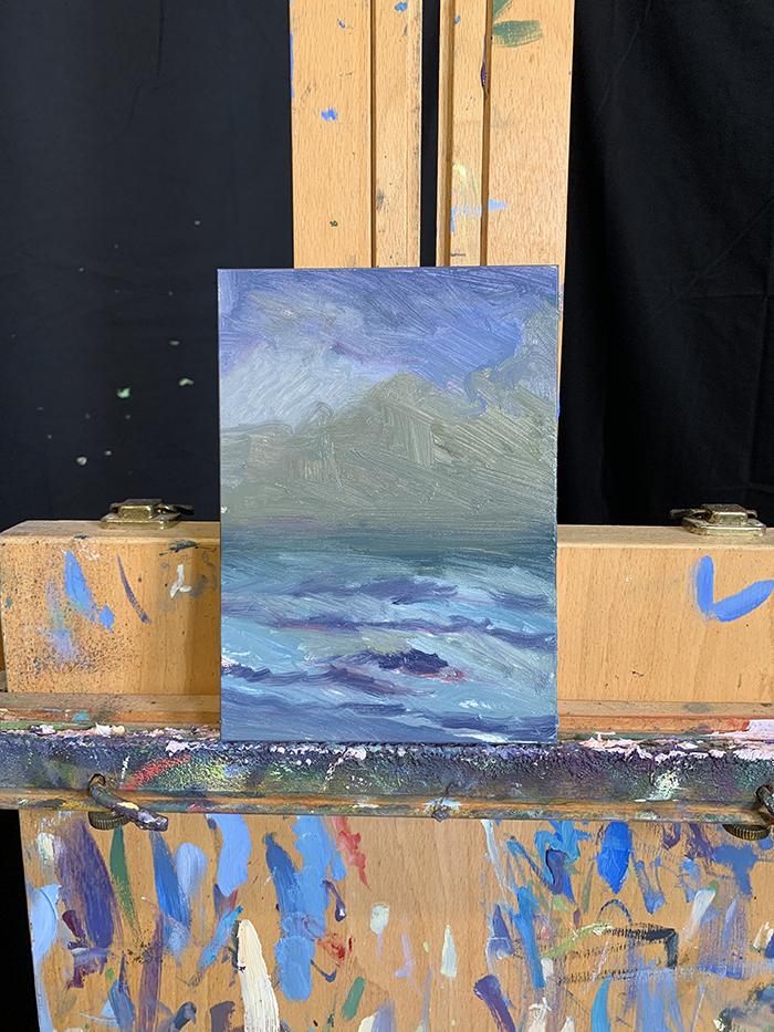 Dan Scott, Sunrise, Bribie Island, 2021, Study (2)