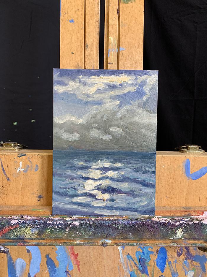 Dan Scott, Sunrise, Bribie Island, 2021, Study (3)