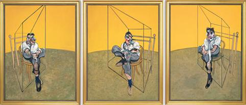 Francis Bacon, Three Studies of Lucian Freud, 1969