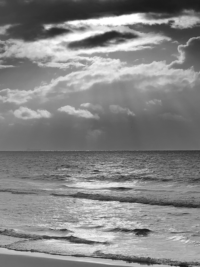 greyscaled_Dan Scott, Sunrise, Bribie Island, 2021, Reference Photo 700Web