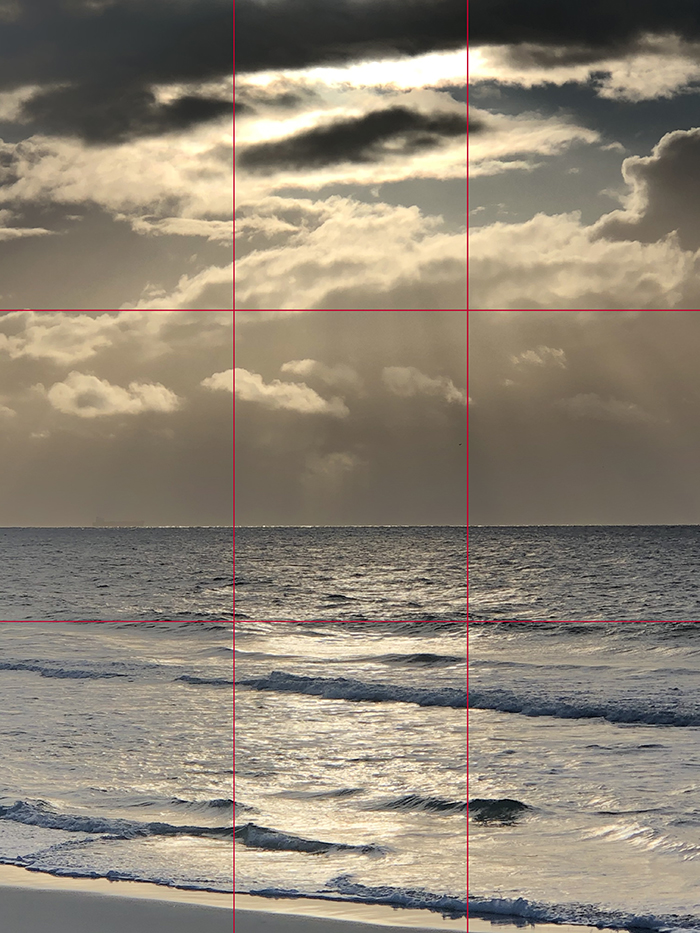 gridlines_Dan Scott, Sunrise, Bribie Island, 2021, Reference Photo 700Web