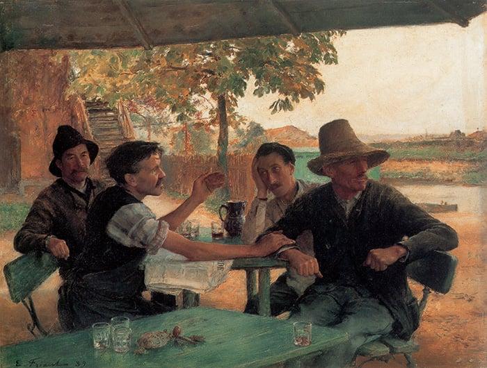 Èmile Friant, La Discussion Politique, 1889