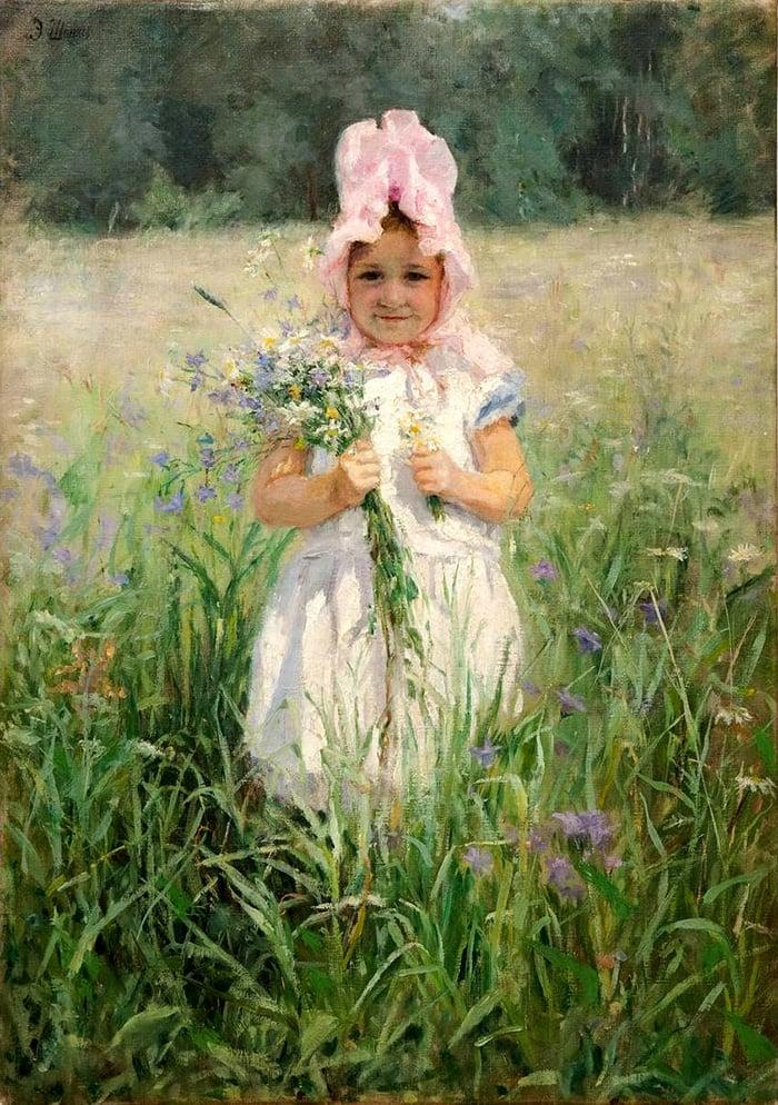 Emily Shanks, In the Flowers, c.1890