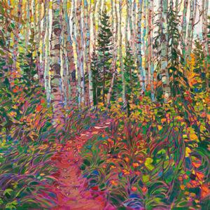 Erin Hanson, Aspen Forest, 2020
