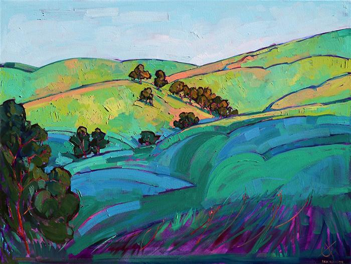 Erin Hanson, Light Over the Hills, 2013