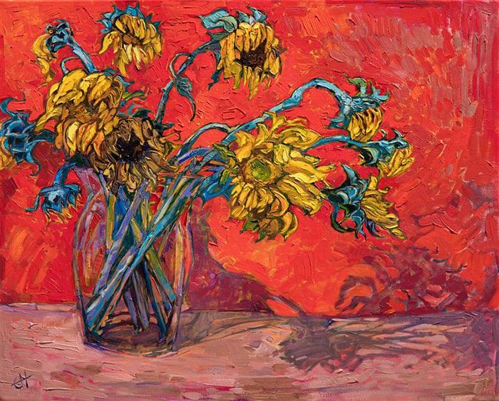 Erin Hanson, Sunflowers, 2019