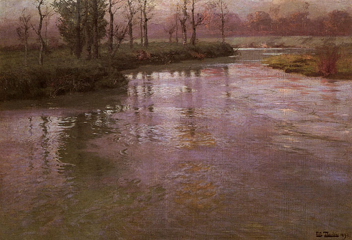 Frits Thaulow, On the French River, 1893