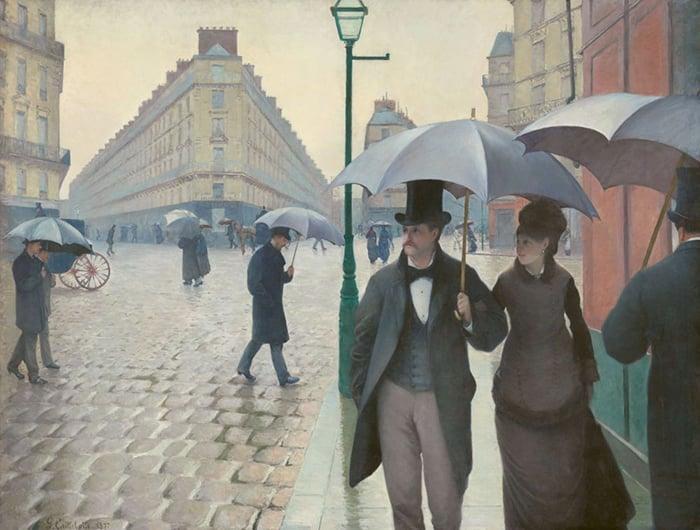 Gustave Caillebotte, Paris, Rainy Day, 1877