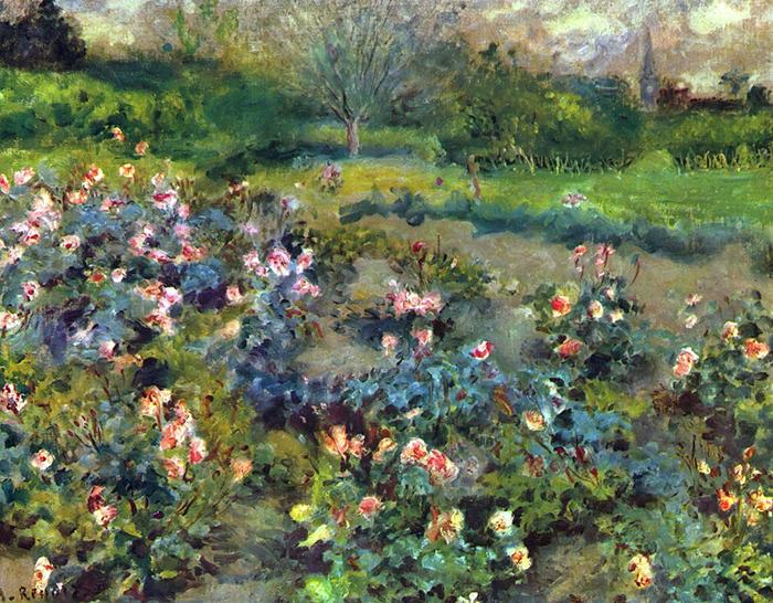 Pierre-Auguste Renoir, Rose Garden, 1873
