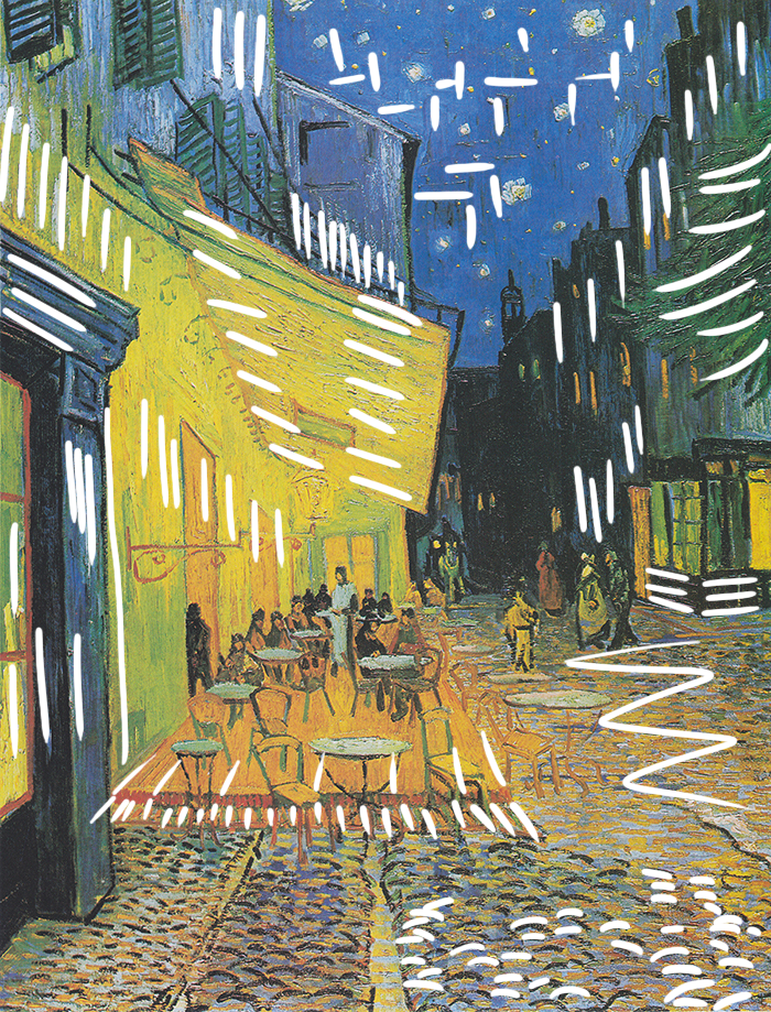 Vincent Van Gogh, Café Terrace at Night, 1888 (Brushwork)
