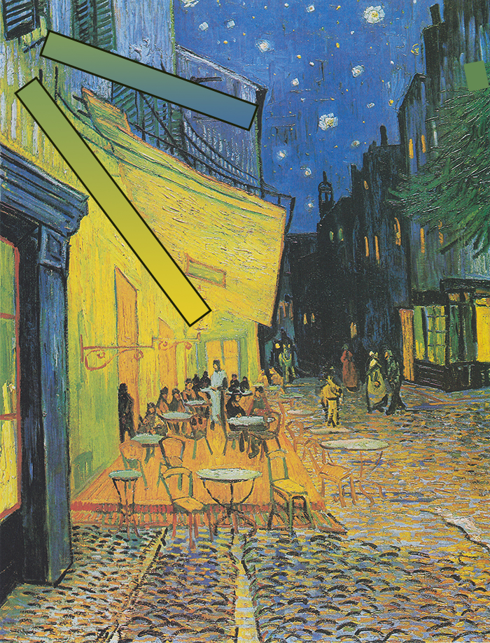 Vincent Van Gogh, Café Terrace at Night, 1888 (Color Gradiant)