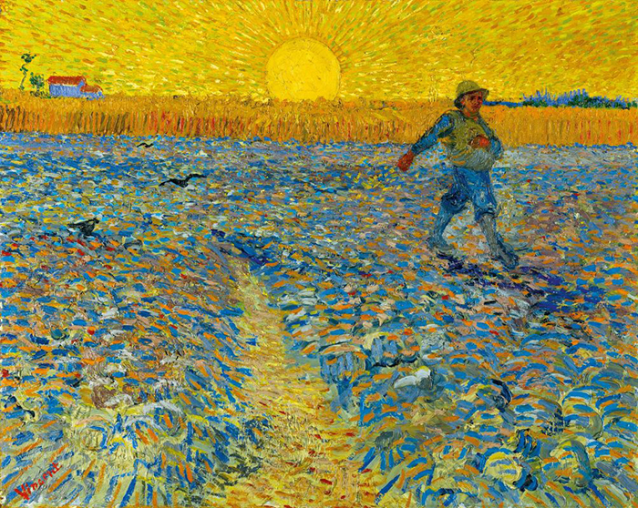 Vincent van Gogh, The Sower and the Sunset, 1888