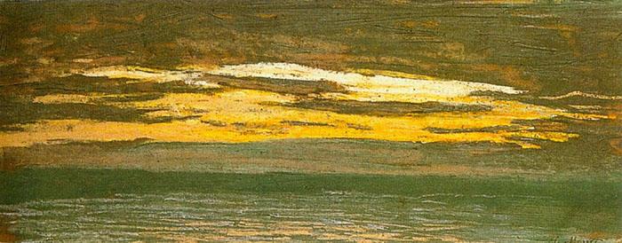 Claude Monet, Over the Sea, 1864
