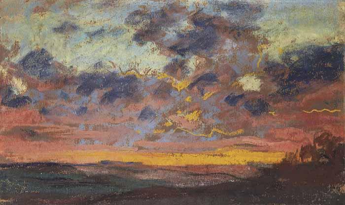 Claude Monet, Coucher de Soleil, c.1868