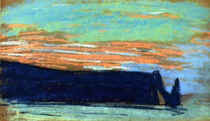 Claude Monet, Étretat, The Arch, and the Aval Cliff D, 1885