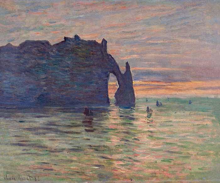 Claude Monet, Étretat. Sunset, 1883