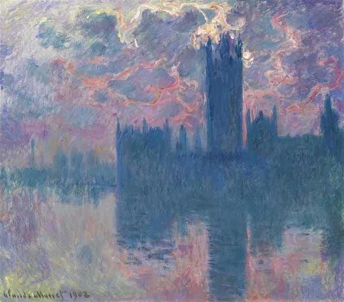 Claude Monet, Parliament House at Sunset, 1901