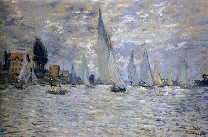 Claude Monet, Regatta at Argenteuil, 1874