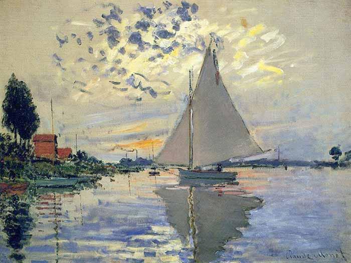 Claude Monet, Sailboat at Petit-Gennevilliers