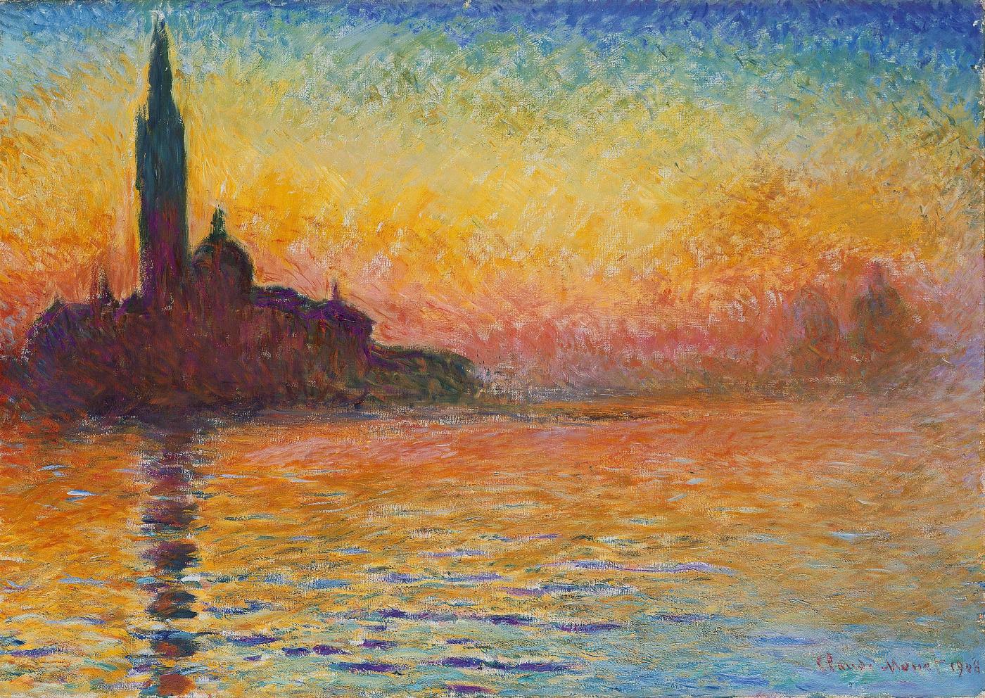 Claude Monet, San Giorgio Maggiore at Dusk, Venice, 1908