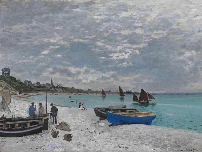 Claude Monet, The Beach at Sainte-Adresse, 1876