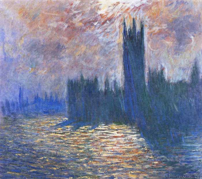 Claude Monet, The Houses of Parliament, Reflections on the Thames, 1905