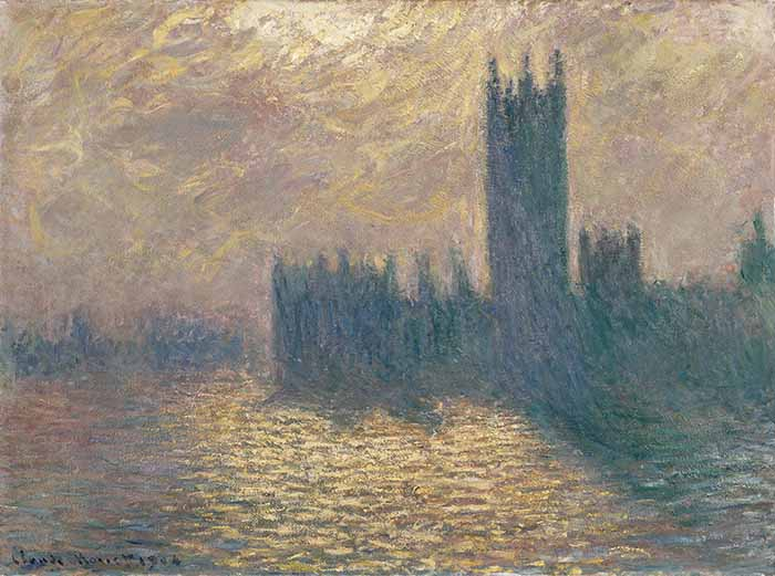 Claude Monet, The Houses of Parliament, Stormy Sky, 1904