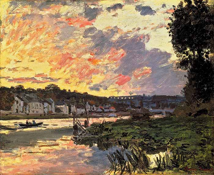 Claude Monet, The Seine at Bougival in the Evening, 1869