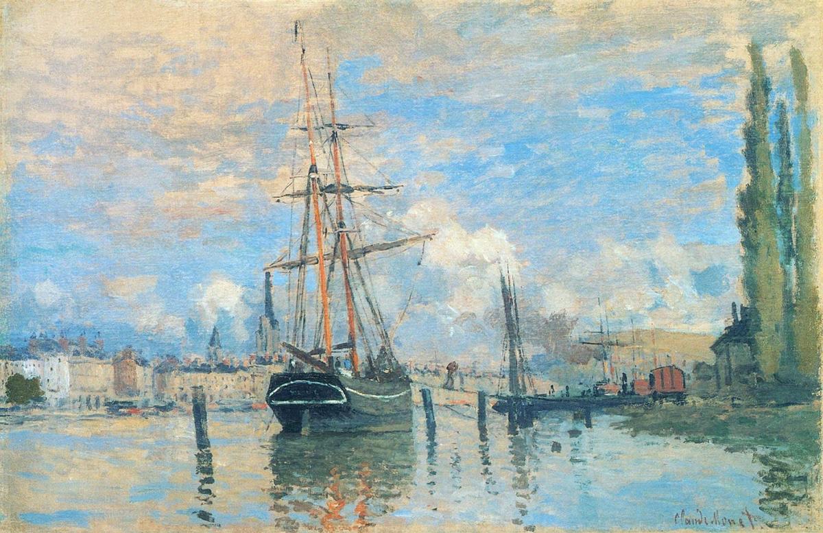 Claude Monet, The Seine at Rouen, 1872